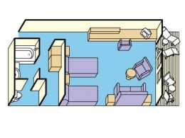 Layout for Mini Suite with Balcony