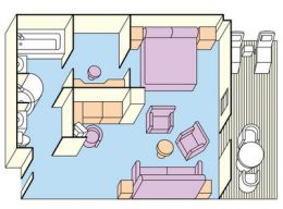 Layout for Suite with Balcony