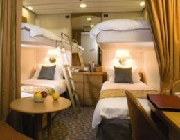 Inside Stateroom (two upper berths)