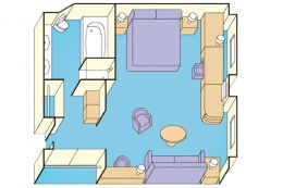 Suite with Balcony Layout