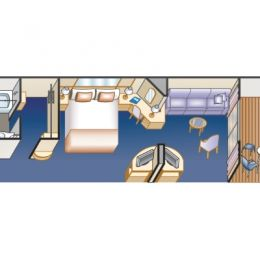Mini-Suite With Balcony Layout
