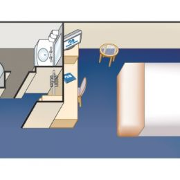 Obstructed Oceanview stateroom Layout