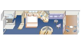Club Class Mini Suite Layout