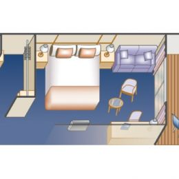 Premium Mini-Suite Stateroom Layout