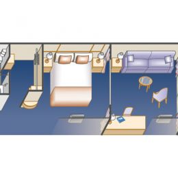 Club Class Mini-Suite Layout