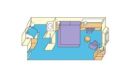 Oceanview Stateroom Layout