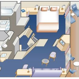 Club Class Mini Suite Floor Plan