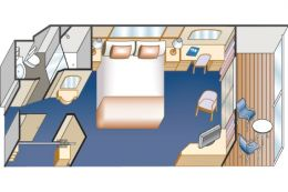 Balcony Cabin Floor Plan