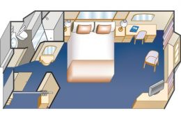 Oceanview Stateroom Floor Plan