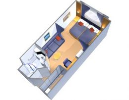 Large Oceanview Stateroom Layout