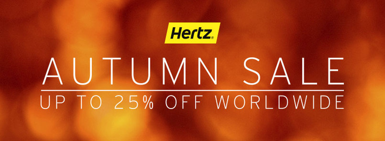 Hertz Global Sale: Up to 25% discount on rentals