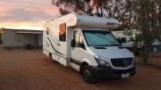 Motorhome Sovereign 2B Delux campervan hireadelaide