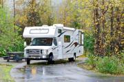 28ft Class C Freelander Silver rv rental anchorage