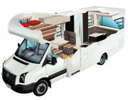 4 Berth Luxury Euro campervan hire - new zealand