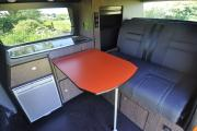 4 Berth VW Campervan  (3 seats in driver cab) motorhome rental - uk
