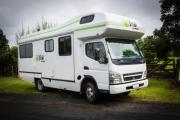 Kiwi Campers NZ Deluxe 7 Berth Mitsubishi Canter new zealand camper van rental