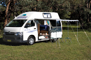 Calypso Campervan Rentals AU 3 Berth Hitop - The Princess motorhome rental australia