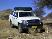 Caprivi Camper Hire Toyota Hilux Double Cab 2.4L with 1 Rooftent motorhome rental south africa