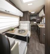 Just Go Motorhomes UK 6 Berth Rear Bunk  Bed Motorhome motorhome rental united kingdom