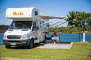 Britz Campervan Rentals AU 6 Berth Vista campervan hire alice springs