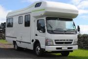 Pure Motorhomes New Zealand Deluxe 7 Berth Mitsubishi Canter campervan hire auckland
