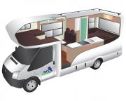 Trail Explorer Deluxe 6 Berth campervan hire - new zealand