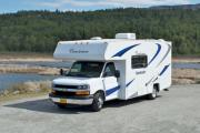 Camper1 Alaska 22ft Class C Freelander Copper motorhome rental alaska