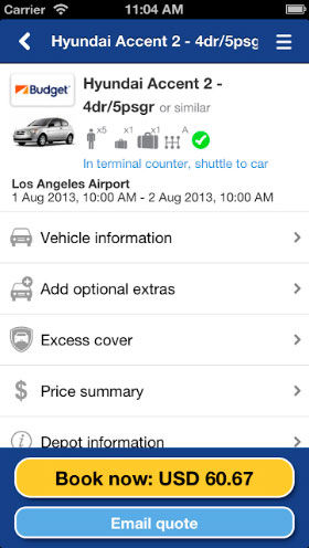 Airport Car Rental App Brought To You By Airportrentals Com
