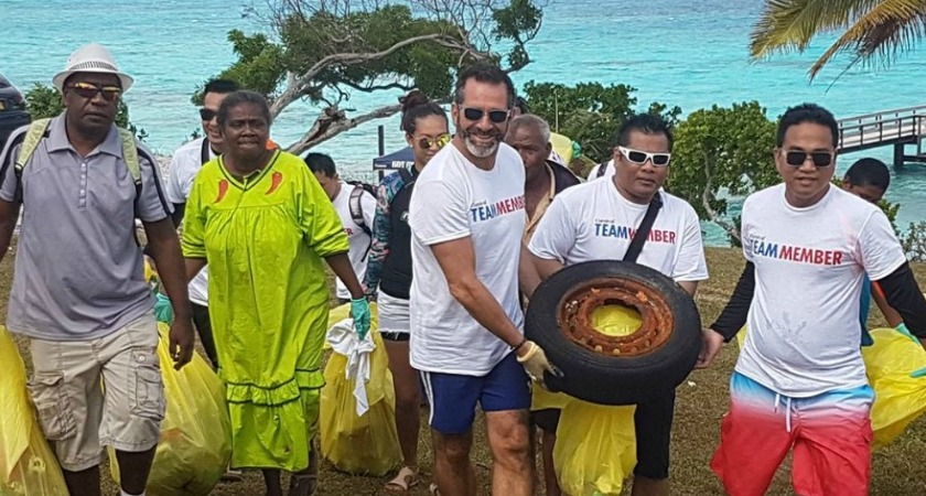 Carnival Cruise Line Crew and Captain Clean Up Coast
