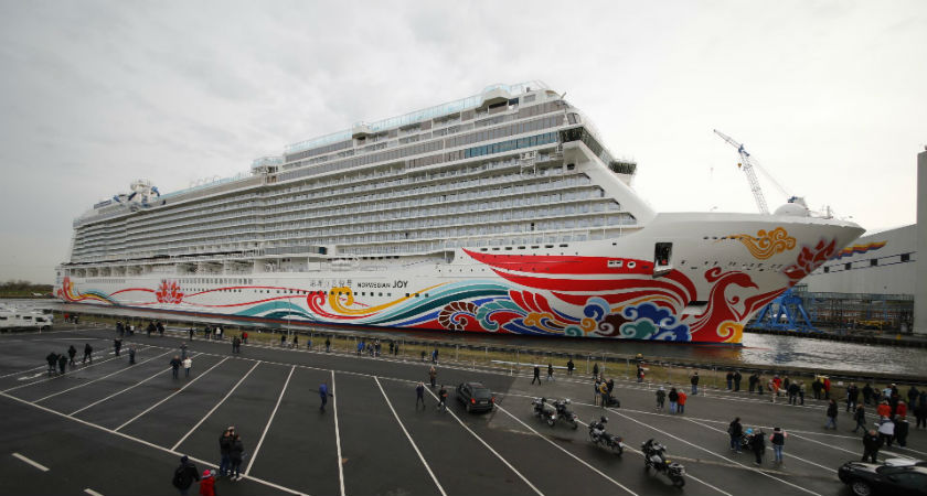 Brand new Norwegian Joy hits the water
