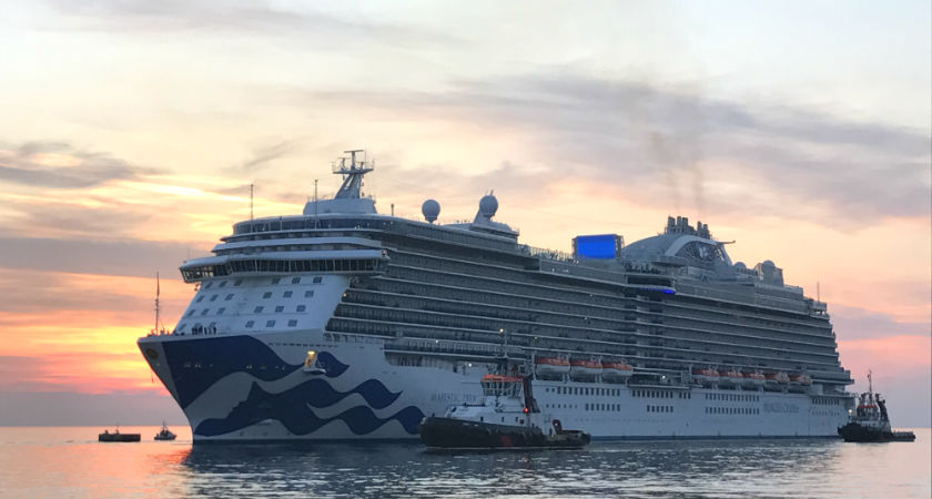Largest Princess ship ever to sail Australian waters coming our way