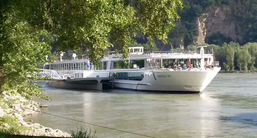Scenic river cruise on the Danube