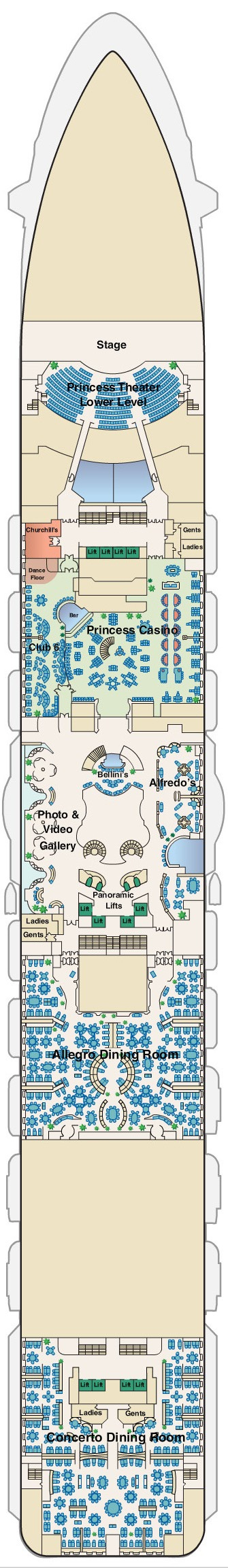 Regal Princess Deck 6 - Fiesta layout
