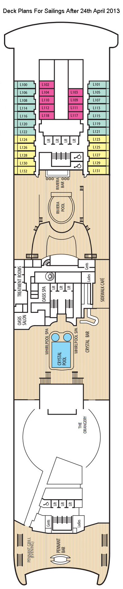 Aurora Lido Deck layout