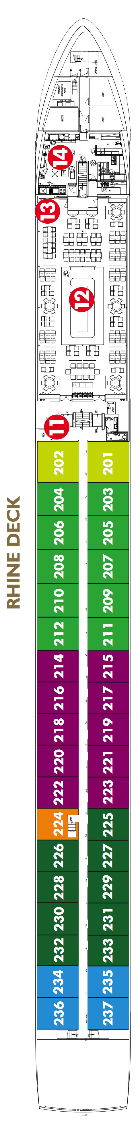 Scenic Crystal Rhine Deck layout
