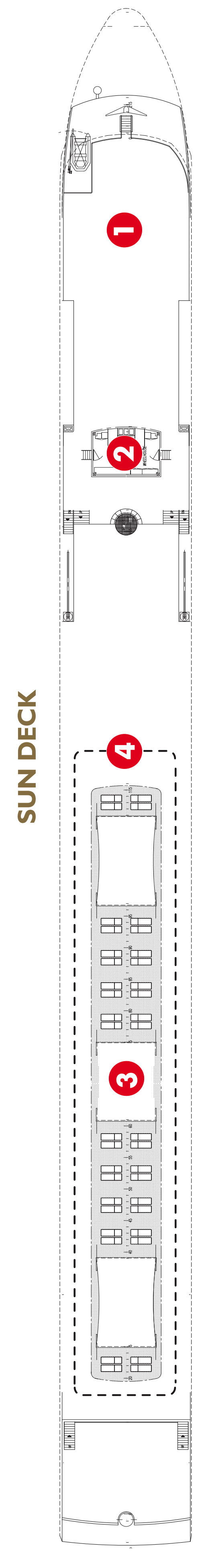 Scenic Jewel Sun Deck layout