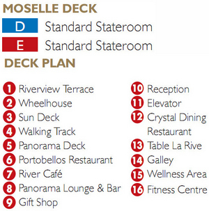 Scenic Gem Moselle Deck plan keys