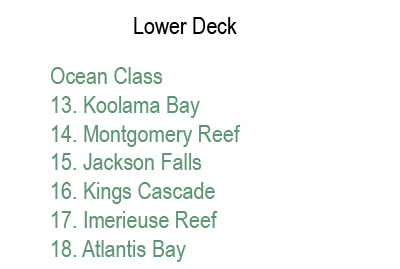 True North Lower Deck plan keys