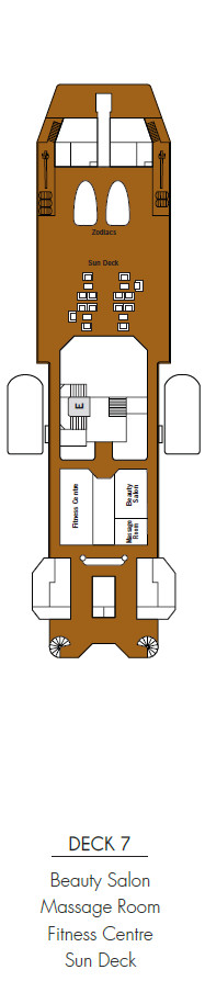 Silver Discoverer Deck 7 layout