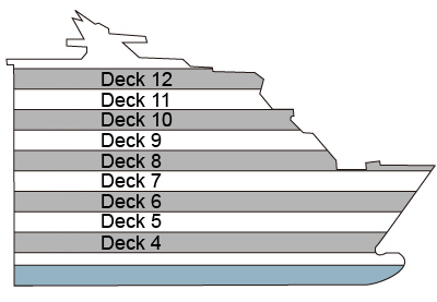 P&O - Pacific Aria Deck 4 overview