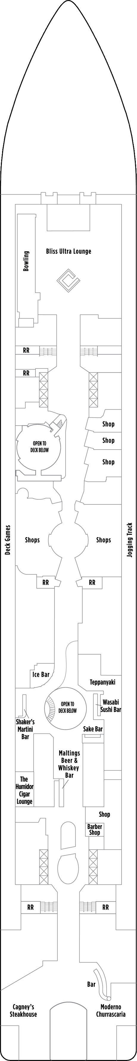 Norwegian Epic Deck 7 layout