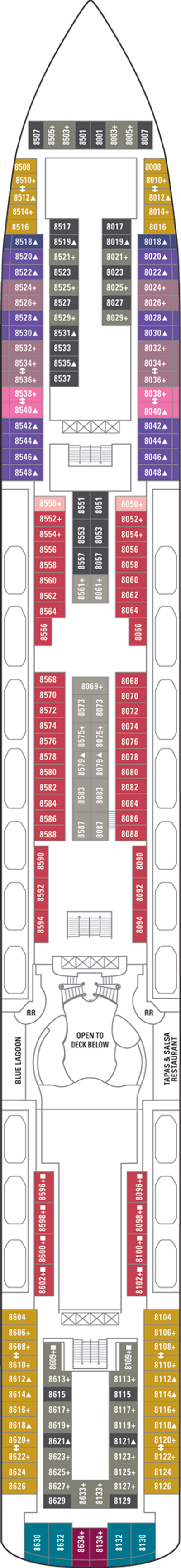 Norwegian Jade Deck 8 layout