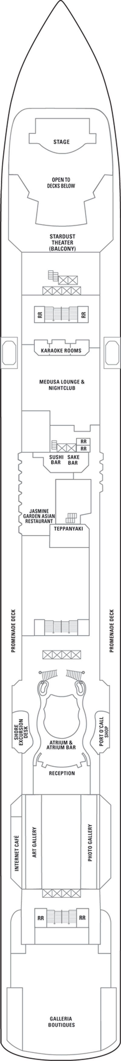 Norwegian Jade Deck 7 layout