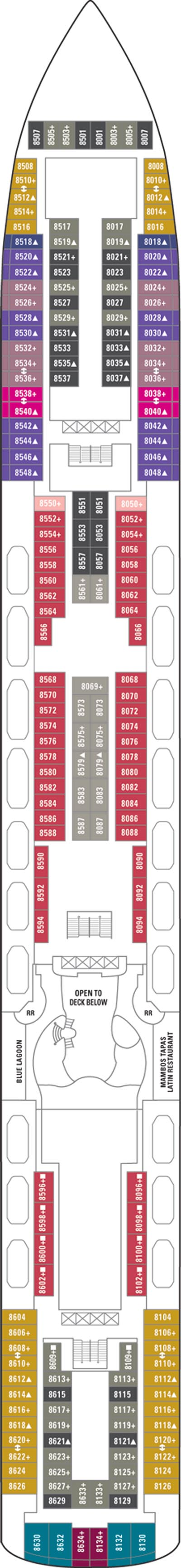 Norwegian Pearl Deck 8 layout