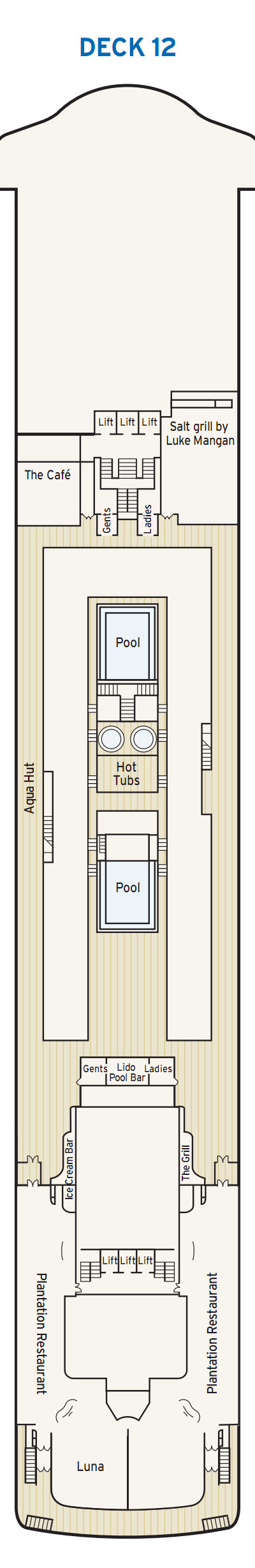 P&O - Pacific Dawn Lido Deck 12 layout
