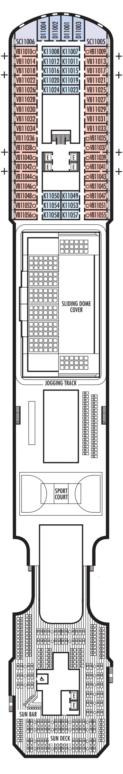 Koningsdam Sun Deck layout