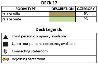 Genting Dream Deck 17 plan keys