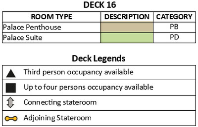 Genting Dream Deck 16 plan keys