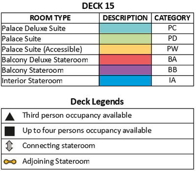 Genting Dream Deck 15 plan keys