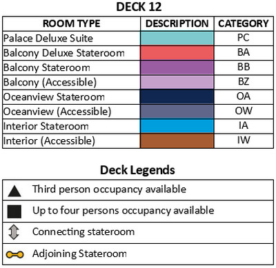 Genting Dream Deck 12 plan keys